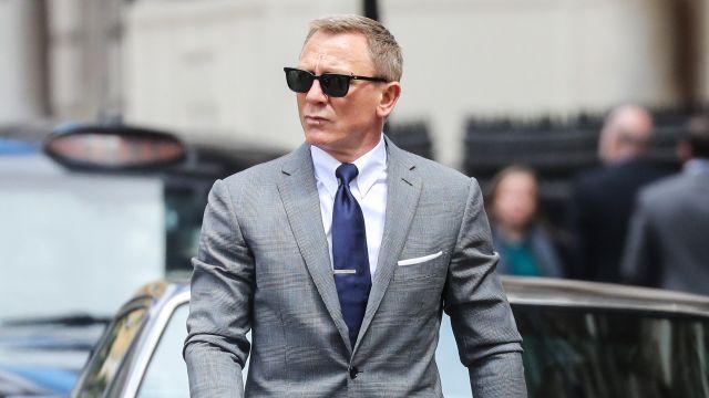 Tom Ford Royal-Blue Silk-Twill tie worn by James Bond (Daniel Craig) in No Time to Die