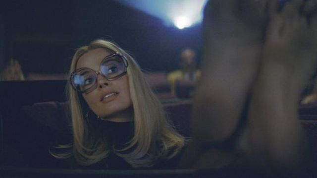 Eyeglasses worn in the movie theater by Sharon Tate (Margot Robbie) in Once Upon a Time… in Hollywood