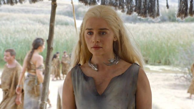 Iconic dragon choker worn by Daenerys (Emilia Clarke) as seen in Game Of Thrones Season 6 Episodes 1