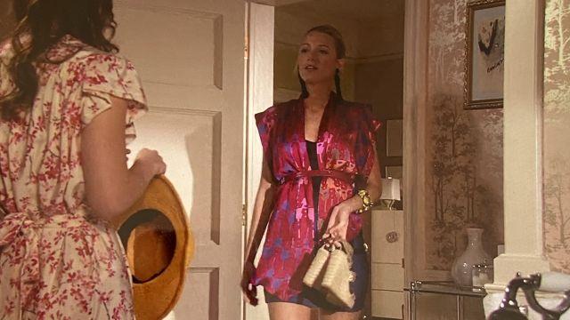 Le gilet rose ouvert Twenty8Twelve porté par Serena van der Woodsen (Blake Lively) dans la série Gossip Girl (Saison 4 Épisode 22)