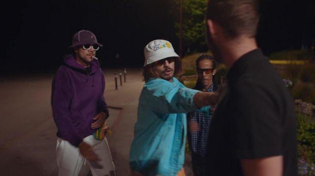 The sweatshirt hoody Poto Rico in the clip Fonsdé The Night of Lorenzo