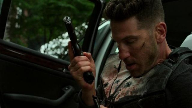 The replica of the pistol Kimber Warrior used by Frank Castle (Jon Bernthal) in the series Marvel's The Punisher (Season 2 Episode 8)