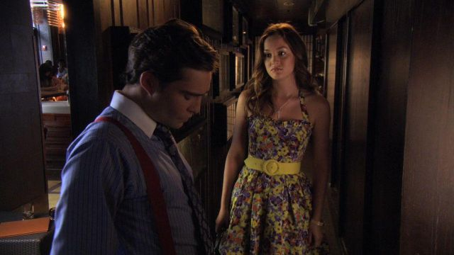 Alice + Olivia floral dress worn by Blair Waldorf (Leighton Meester) in Gossip Girl (S03E01)