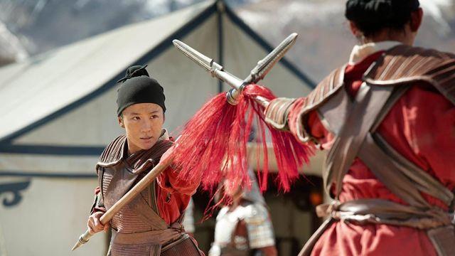 Spear used by Mulan (Liu Yifei) as seen in Mulan movie