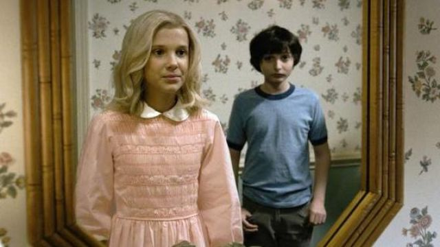 Pink Dress of Eleven (Millie Bobby Brown) in Stranger Things (S01)
