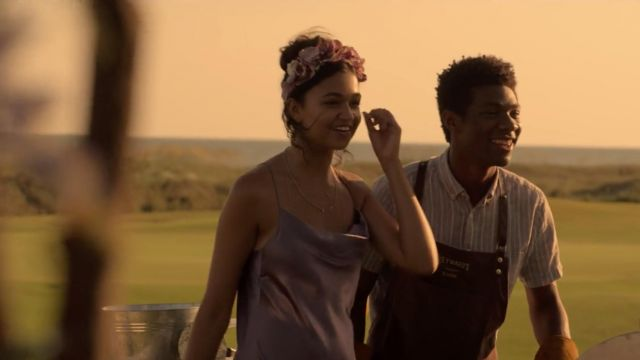 Purple dress worn by Kiara (Madison Bailey) in Outer Banks (S01E05)