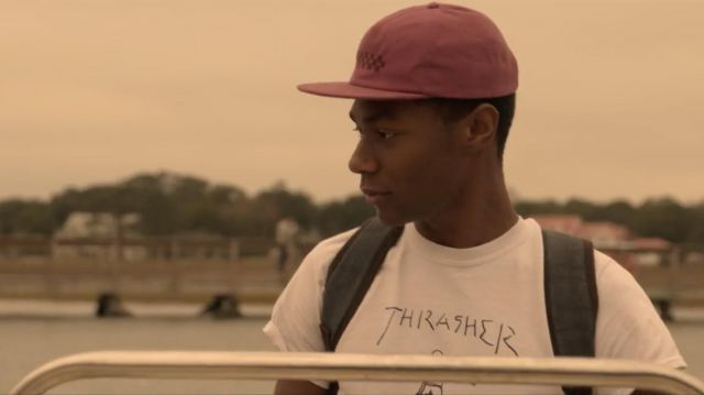 White thrashers t-shirt worn by Kiara (Madison Bailey) in Outer Banks (S01E06)