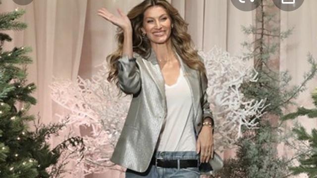 Veste silver porté par Gisèle bundchen  Gisele Bündchen  The Tonight Show Starring Jimmy Fallon