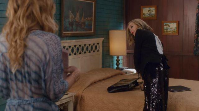 Chloe Dos Ouvert à Manches Longues Blazer porté par Moira Rose (Catherine O'Hara) dans Schitt's Creek (S04E09)