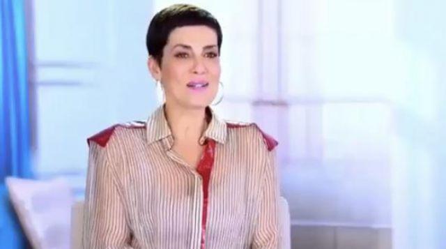 La chemise rayée portée par Cristina Cordula dans l'émission Les Reines du Shopping
