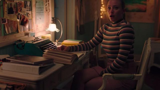 American Eagle Striped Long Sleeve Mock Neck Tee of Betty Cooper (Lili Reinhart) in Riverdale (S04E17)