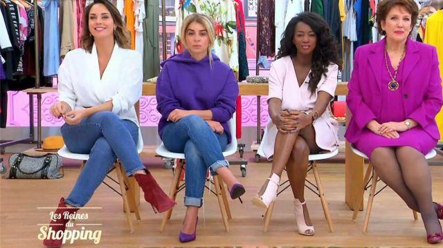 Les bottines en daim de Julia Vignali dans Les Reines du Shopping le 26.08.2020