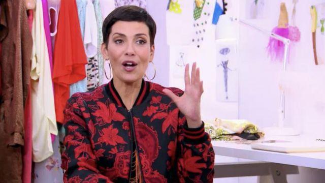 Le veste «bomber» motif japonais portée par Cristina Cordula dans l'émission Les reines du shopping