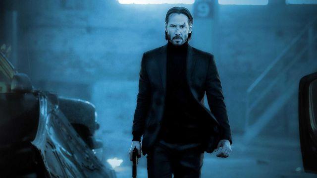 The turtleneck sweater of John Wick (Keanu Reeves) in John Wick 2
