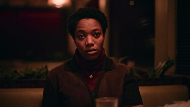 Brown jacket worn by Bonnie (Naomi Ackie) as seen in The End of the F***ing World (Season 2 Episode 7)