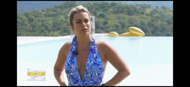 Carla MOREAU's blue swimsuit