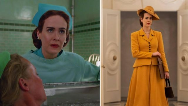 Yellow Blazer Coat of Nurse Mildred Ratched (Sarah Paulson) in Ratched (S01E01)