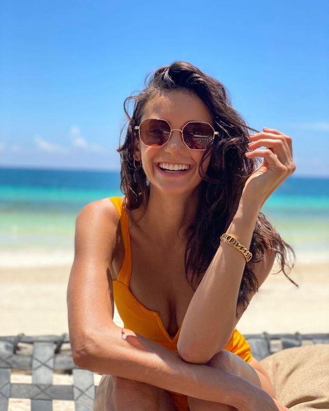 Sunglasses of Nina Dobrev on his account Instagram @nina