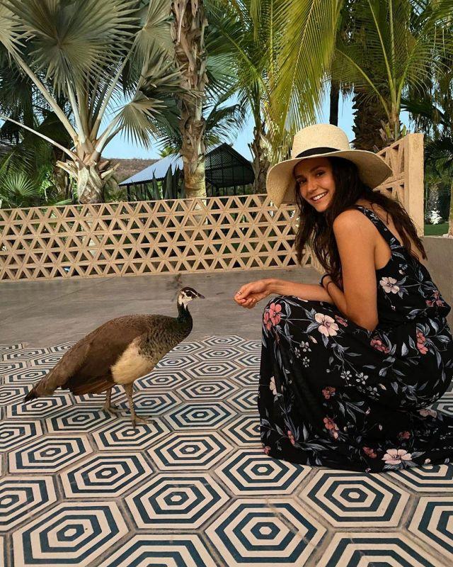 The dress Show Me Your Mumu of Nina Dobrev on her account Instagram @nina