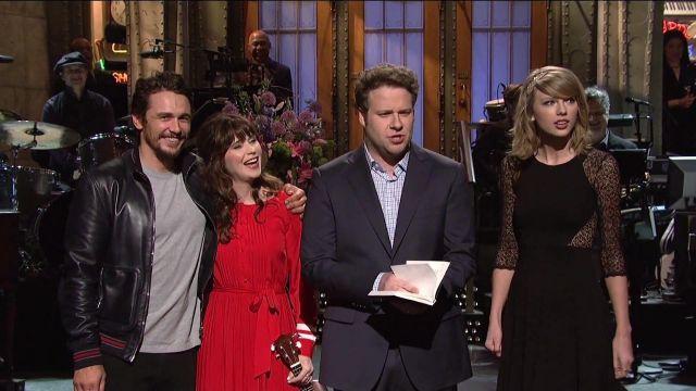 Robe portée par Taylor Swift dans Rogen Journal Monologue - Saturday Night Live