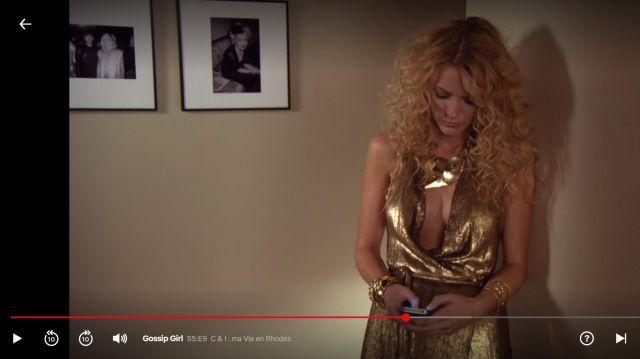 Robe lamée de Serena van der Woodsen (Blake Lively) dans Gossip Girl (S05E09)