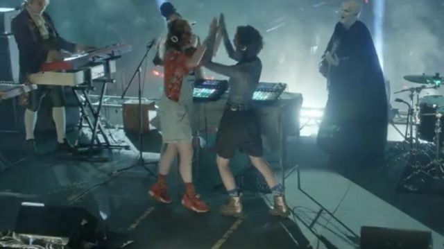 Rose Gold Doc Martens worn by Billie (Brigette Lundy-Paine) in Bill & Ted Face the Music