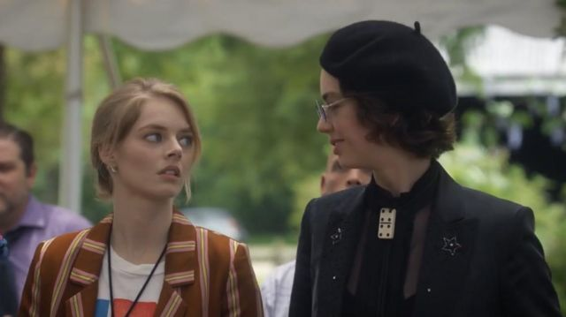 Amiri Beaded Lapel Blazer worn by Billie (Brigette Lundy-Paine) in Bill & Ted Face the Music