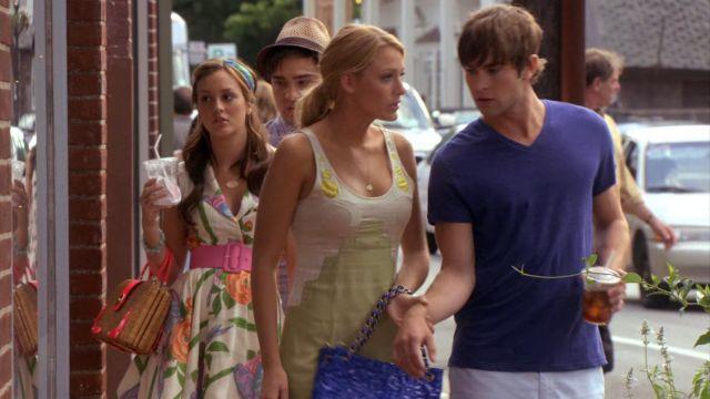 Floral Dress of Blair Waldorf (Leighton Meester) in Gossip Girl (S02E01)
