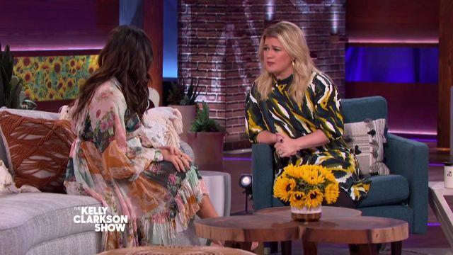 The dress of Jenna Dewan in The Kelly Clarkson Show