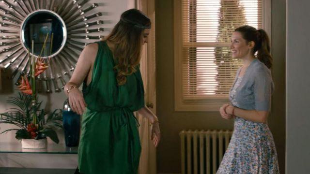 Acne Studios Green Marnay Dress worn by Alexis Rose (Annie Murphy) in Schitt's Creek (S01E10)