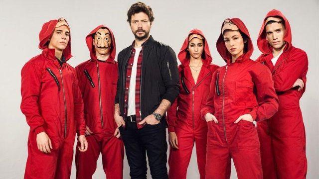 Money Heist Tv Series Red Hoodie of Nairobi (Alba Flores) in Money Heist (S02E10)