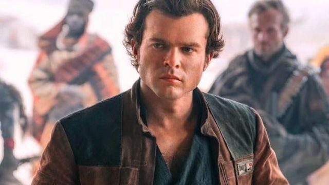 Han Solo A Star Wars Story Jacket Brown Suede Leather Biker Jacket of Han Solo (Alden Ehrenreich) in Solo: A Star Wars Story