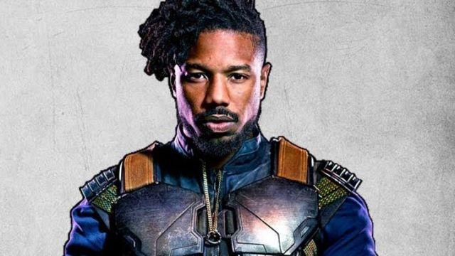 Black Panther Erik Killmonger Vest from Black Panther Movie - Michael B Jordan Blue Vest of Erik Killmonger (Michael B. Jordan) in Black Panther