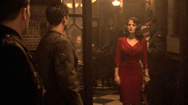Red Dress of Peggy Carter (Hayley Atwell) in Captain America: The First Avenger