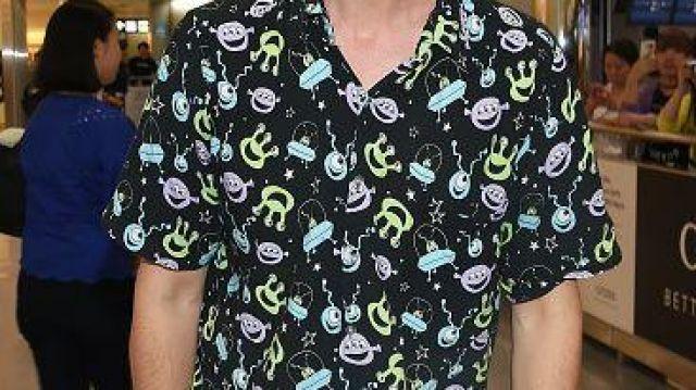 Black alien button up shirt of Matthew Gray Gubler in Criminal Minds
