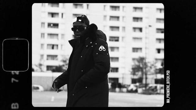 Blouson noir porté par de Ninho Ninho dans Alonzo - C'est elle feat. Ninho