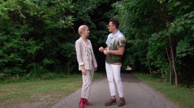 Prada Camp Collar Mountain Print Shirt porté par Daniel Levy dans The Great Canadian Baking Show (S02E06)