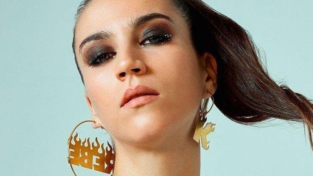 Rebeca(Claudia Salas) earrings from the Elite series worn by Rebeca de Bormujo Claudia Salas in Elite
