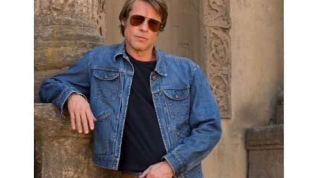 Blue Denim Jacket of Cliff Booth (Brad Pitt) in Once Upon a Time… in Hollywood
