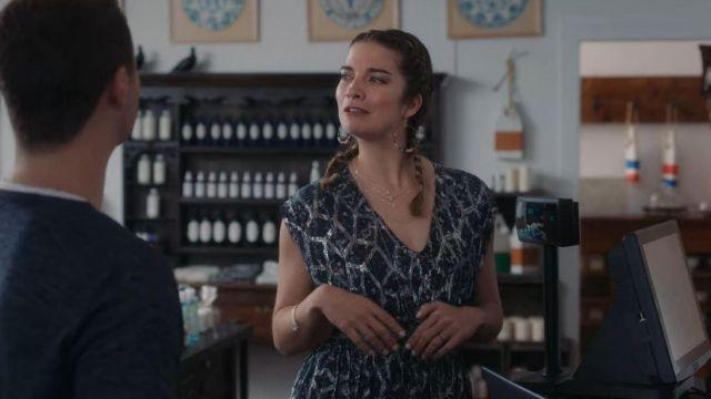 Iro Flavia Metallic Silk Cap-Sleeve Dress worn by Alexis Rose (Annie Murphy) in Schitt's Creek (S05E06)