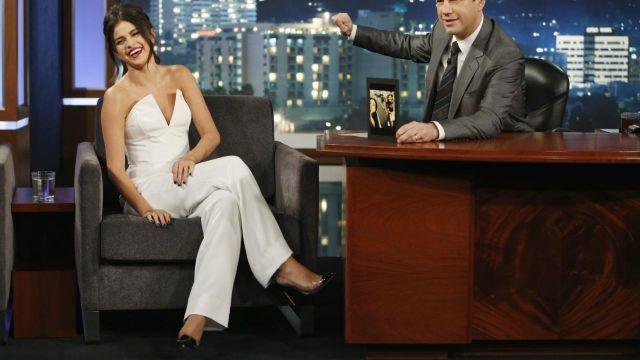 Chaussures portée par Selena Gomez dans l'émission Jimmy Kimmel Live