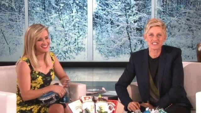 Robe portée par Reese Witherspoon dans l'émission The Ellen DeGeneres Show