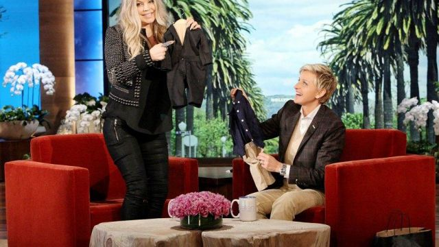 Veste portée par Fergie dans l'émission The Ellen DeGeneres Show