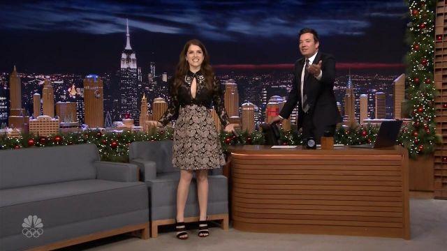 Chaussures portée par Anna Kendrick dans l'émission The Tonight Show Starring Jimmy Fallon