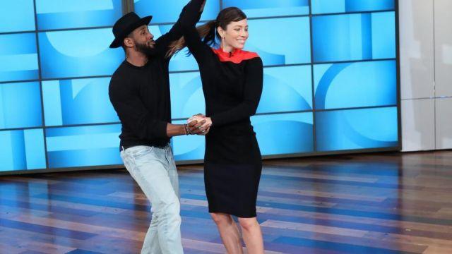 Robe portée par Jessica Biel dans l'émission The Ellen DeGeneres Show