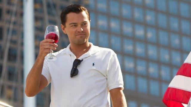 White Polo Shirt Ralph Lauren of Jordan Belfort (Leonardo DiCaprio) in The Wolf of Wall Street