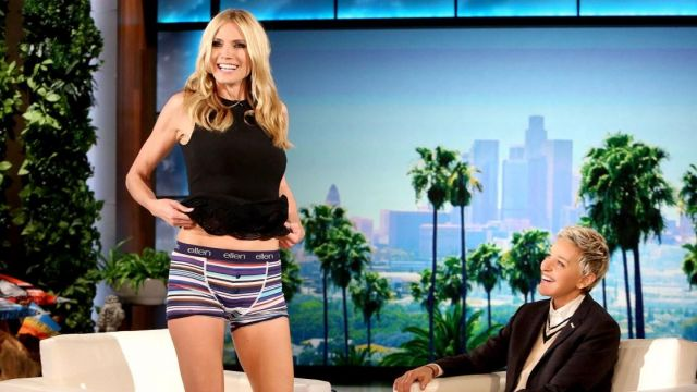Robe portée par Heidi Klum dans l'émission The Ellen DeGeneres Show