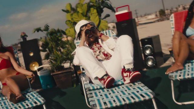 Nike Air Jordan sneakers worn by Trippie Redd in Alright music video by Wiz Khalifa feat. Preme