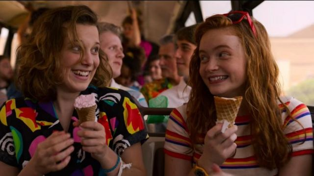 Similar Mall shirt of Max Mayfield (Sadie Sink) in Stranger Things (S03E02)