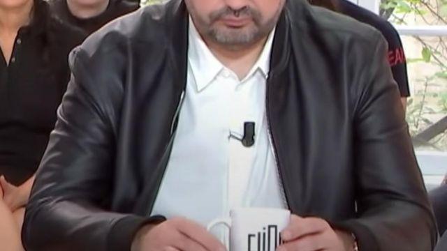 Veste en cuir de Jean-François Piège dans Clique TV